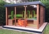 Luxus Design Gartensauna