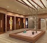 Wellnessraum zu hause  Garten Sauna Haus – Wellness Wochenende für Zuhause